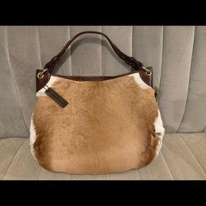 Wilsons leather deer skin/leather hobo purse